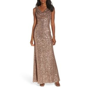 3ca831360a4 Vince Camuto Dresses - 🆕 VINCE CAMUTO COWL NECK SEQUIN GOWN